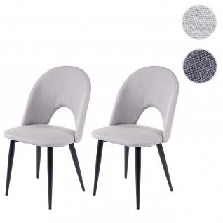 2x Esszimmerstuhl HWC-D73, Stuhl Küchenstuhl, Stoff/Textil