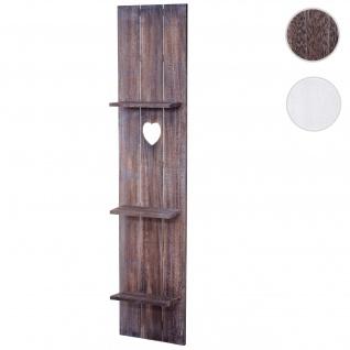 Wandregal HWC-C92, Wandpaneel Holzregal Regal, 3 Ebenen 150x33x13cm Massivholz Vintage