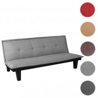 3er-Sofa HWC-C87, Couch Schlafsofa Gästebett Bettsofa Klappsofa, Schlaffunktion 170x100cm