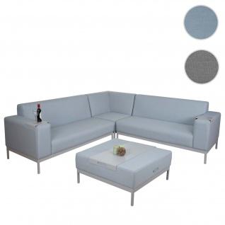 Alu-Garten-Garnitur HWC-C47, Sofa, Outdoor Stoff/Textil