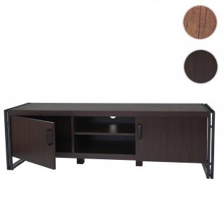 TV-Rack HWC-A27, Fernsehtisch Lowboard Kommode, 3D-Struktur Metall 45x140x40cm