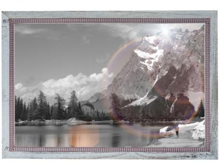 Bilderrahmen T249, Fotorahmen, 26x36cm Shabby-Look