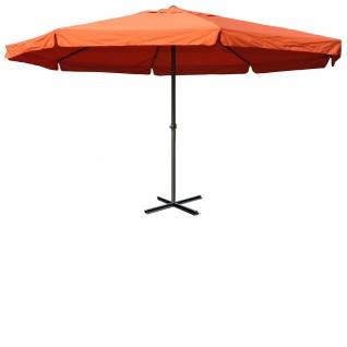 Sonnenschirm Meran, Gastronomie Marktschirm mit Volant Ø 5m Polyester/Alu 28kg