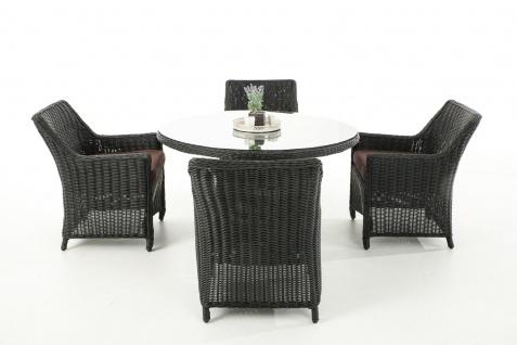 Garten-Garnitur CP064, Sitzgruppe Lounge-Garnitur, Poly-Rattan