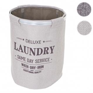 Wäschesammler HWC-C34, Laundry Wäschebox Wäschesack Wäschebehälter mit Netz, 55x39cm 65l