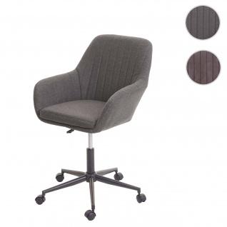 Bürostuhl HWC-D35, Drehstuhl Schreibtischstuhl Lehnstuhl Stuhl, Stoff/Textil mit Armlehne