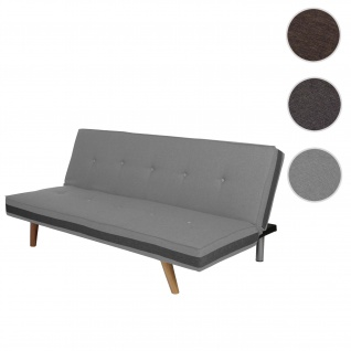 3er-Sofa Herstal, Couch Schlafsofa Gästebett Bettsofa