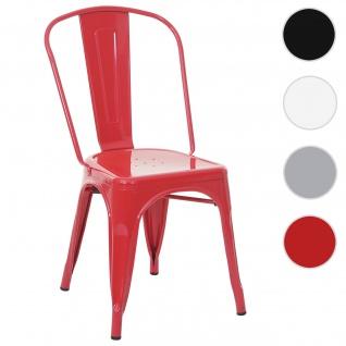 Stuhl HWC-A73, Bistrostuhl Stapelstuhl, Metall Industriedesign stapelbar