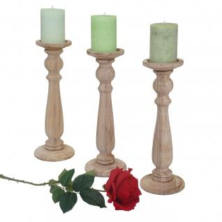 3er Set Kerzenständer T360, Kerzenhalter, Shabby-Look Vintage Höhe 35cm