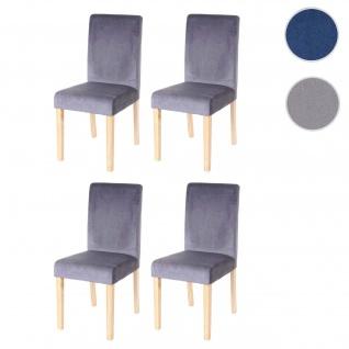 4x Esszimmerstuhl Stuhl Küchenstuhl Littau, Samt