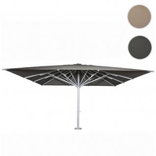 Gastronomie-Luxus-Sonnenschirm HWC-D20b, XXL-Schirm Marktschirm, 5x5m (Ø7, 2m) Polyester/Alu 75kg