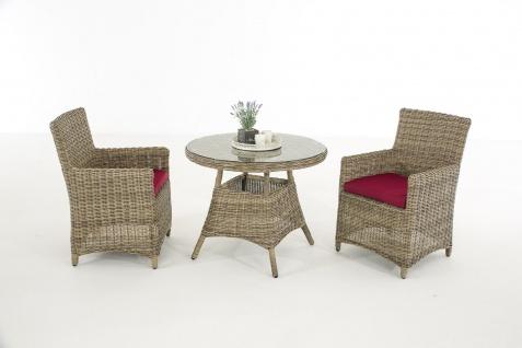 Garten-Garnitur CP068, Sitzgruppe Lounge-Garnitur Poly-Rattan
