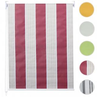 Rollo HWC-D52, Fensterrollo Seitenzugrollo Jalousie, Bohrmontage Isolation blickdicht 90x230cm rot/weiß/beige