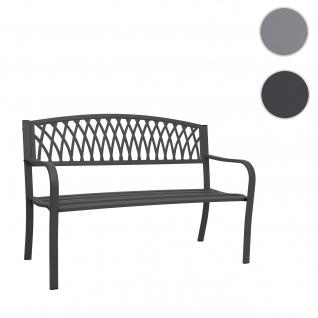 Gartenbank HWC-F45, Bank Parkbank Sitzbank, 2-Sitzer pulverbeschichteter Stahl