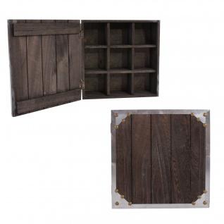 2x Wandschrank Sammlerbox Setzkasten 24x24x10 cm, Shabby-Look, Vintage