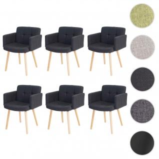 6x Esszimmerstuhl Orlando II, Stuhl Küchenstuhl, Retro-Design