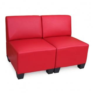 Modular 2-Sitzer Sofa Couch Lyon, Kunstleder