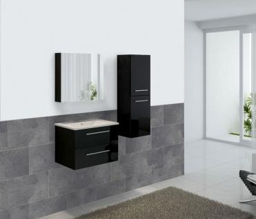 Badezimmerset HWC-C11, Waschtisch Spiegelschrank Hängeschrank, hochglanz - Vorschau 1