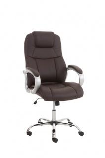 Bürostuhl CP518, Chefsessel Drehstuhl, US-Version, 150kg belastbar, Kunstleder
