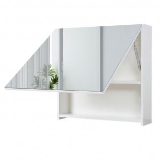 Spiegelschrank HWC-C11, Wandspiegel Badspiegel Badezimmer, aufklappbar hochglanz 58x60cm