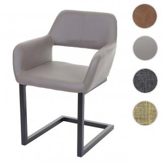 Esszimmerstuhl HWC-A50 II, Freischwinger Stuhl Küchenstuhl, Retro 50er Jahre Design
