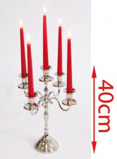 Kerzenleuchter, 5-armig, Metall vernickelt