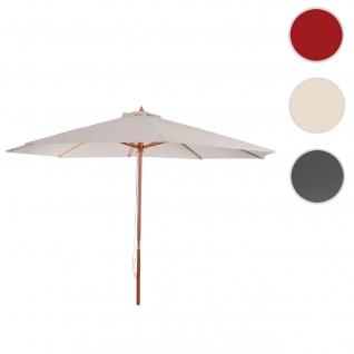 Sonnenschirm Florida, Gartenschirm Marktschirm, Ø 3m Polyester/Holz 6kg