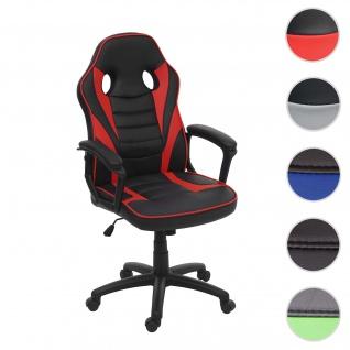 Bürostuhl HWC-F59, Schreibtischstuhl Drehstuhl Racing-Chair Gaming-Chair, Kunstleder
