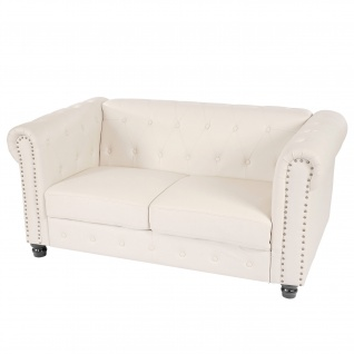 Luxus 2er Sofa Loungesofa Couch Chesterfield Kunstleder