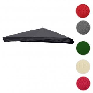Bezug für Luxus-Ampelschirm HWC-A96 mit Flap, Sonnenschirmbezug Ersatzbezug, 3x3m (Ø4, 24m) Polyester 3kg