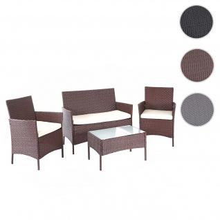 Poly-Rattan Garten-Garnitur HWC-D82, Sitzgruppe Lounge-Set