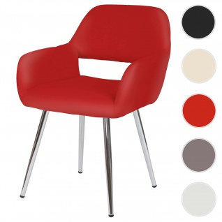 Esszimmerstuhl HWC-A50, Stuhl Küchenstuhl, Retro, Kunstleder