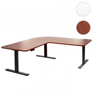 Eck-Schreibtisch HWC-D40, Bürotisch Computertisch, elektrisch höhenverstellbar Memory 178x178cm 84kg