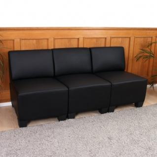 Modular 3-Sitzer Sofa Couch Lyon, Kunstleder