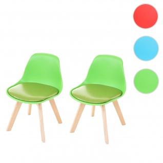 2x Kinderstuhl HWC-E81, Kinderhocker Kindermöbel Stuhl Retro Design 55x38x39cm