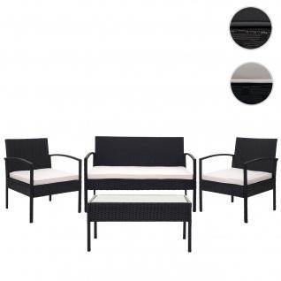 Poly-Rattan Garnitur HWC-F56, Balkon-/Garten-/Lounge-Set Sofa Sitzgruppe