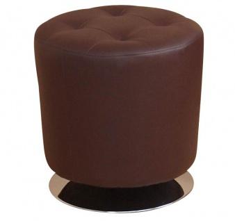 Sitzhocker H107, Hocker Loungehocker, drehbar, Kunstleder