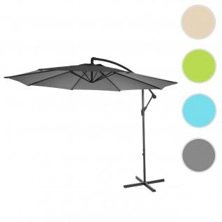 Ampelschirm Acerra, Sonnenschirm Sonnenschutz, Ø 3m neigbar, Polyester/Stahl 11kg
