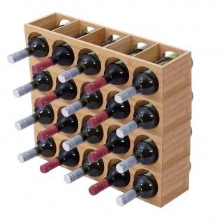 Weinregal HWC-B89, Flaschenständer Flaschenregal Weinflaschenständer, Bambus 53x14x13cm