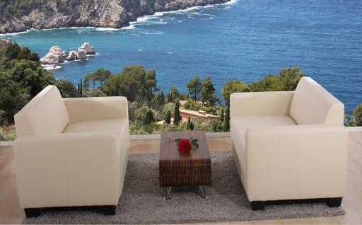 Sofa-Garnitur Couch-Garnitur 2x 2er Sofa Lyon Kunstleder