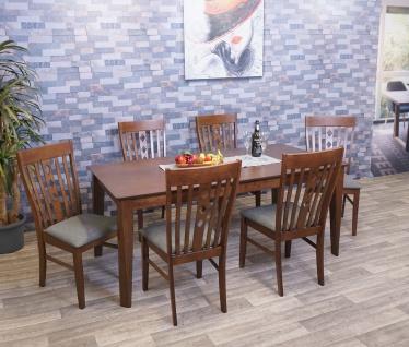 Esszimmer-Set HWC-G62, Sitzgruppe Esszimmergruppe Esszimmergarnitur, Stoff/Textil Massiv-Holz