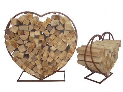 2er Set Brennholz-Stapelregal LD52, Kaminholzregal Feuerholzregal Kaminholzhalter Stapelhilfe, Metall Herz