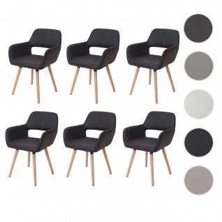 6x Esszimmerstuhl HWC-D87, Stuhl Küchenstuhl, Retro 50er Jahre Design