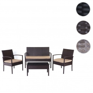 Poly-Rattan Garnitur HWC-D98, Gartengarnitur Sitzgruppe