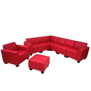 Sofa-System Couch-Garnitur Lyon 6-2, Kunstleder