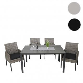 Gartengarnitur HWC-G12, Lounge-Set, Poly-Rattan 150x90cm