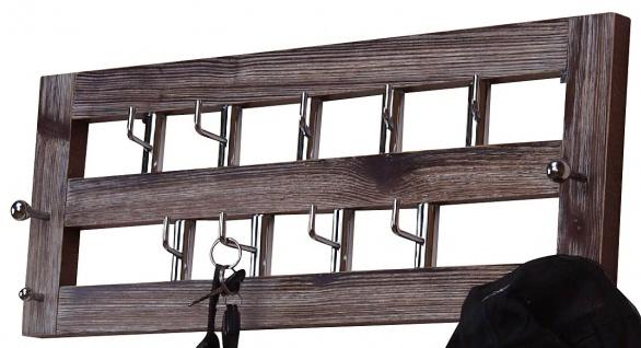Wandgarderobe H59, Garderobenpaneel Garderobe, 25x60x7cm