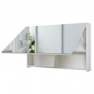 Spiegelschrank HWC-C11, Wandspiegel Badspiegel Badezimmer, aufklappbar hochglanz 58x90cm