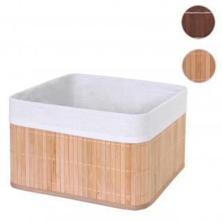 Aufbewahrungskorb HWC-C21, Korb Aufbewahrungsbox Ordnungsbox Sortierbox Regalkorb, Bambus