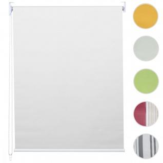 Rollo HWC-D52, Fensterrollo Seitenzugrollo Jalousie, Bohrmontage Isolation blickdicht 100x160cm weiß